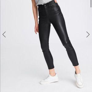 Rag & Bone ankle skinny leather pants!